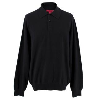Wild About Cashmere Saks Fifth Avenue Men's Cashmere Polo Top