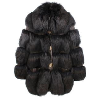 Just Cavalli Fur and Leather Panelled Coat