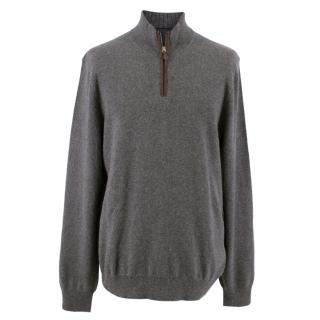 The Men's Store Bloomingdales Grey Cashmere Sweater