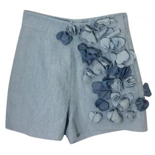 Ermanno Scervino Denim Floral Shorts