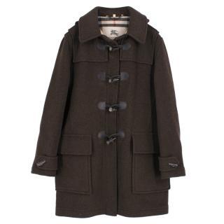 Burberry Brown Duffle Coat