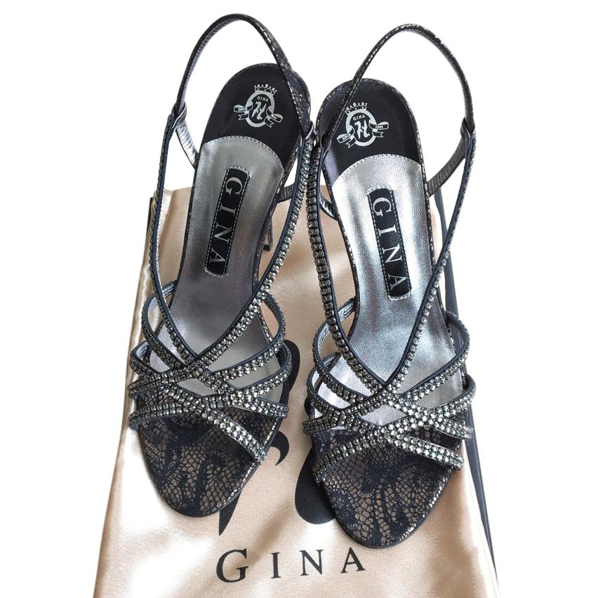 Gina Embellished Crystal Sandals