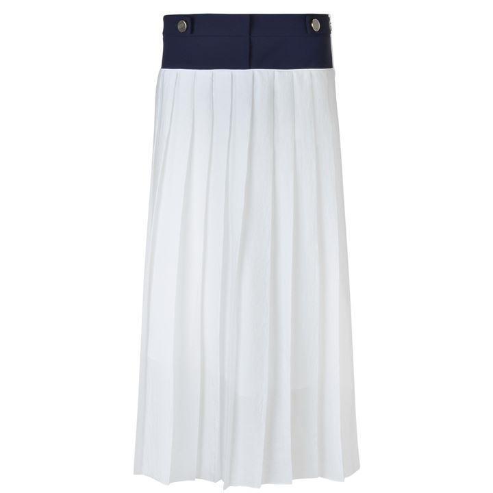 Victoria Victoria Beckham Soft Crepe Pleated Skirt