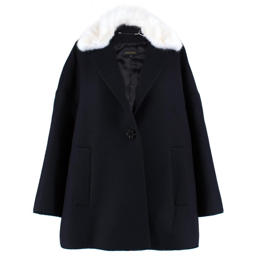 Escada Black & White Mink Fur Coat