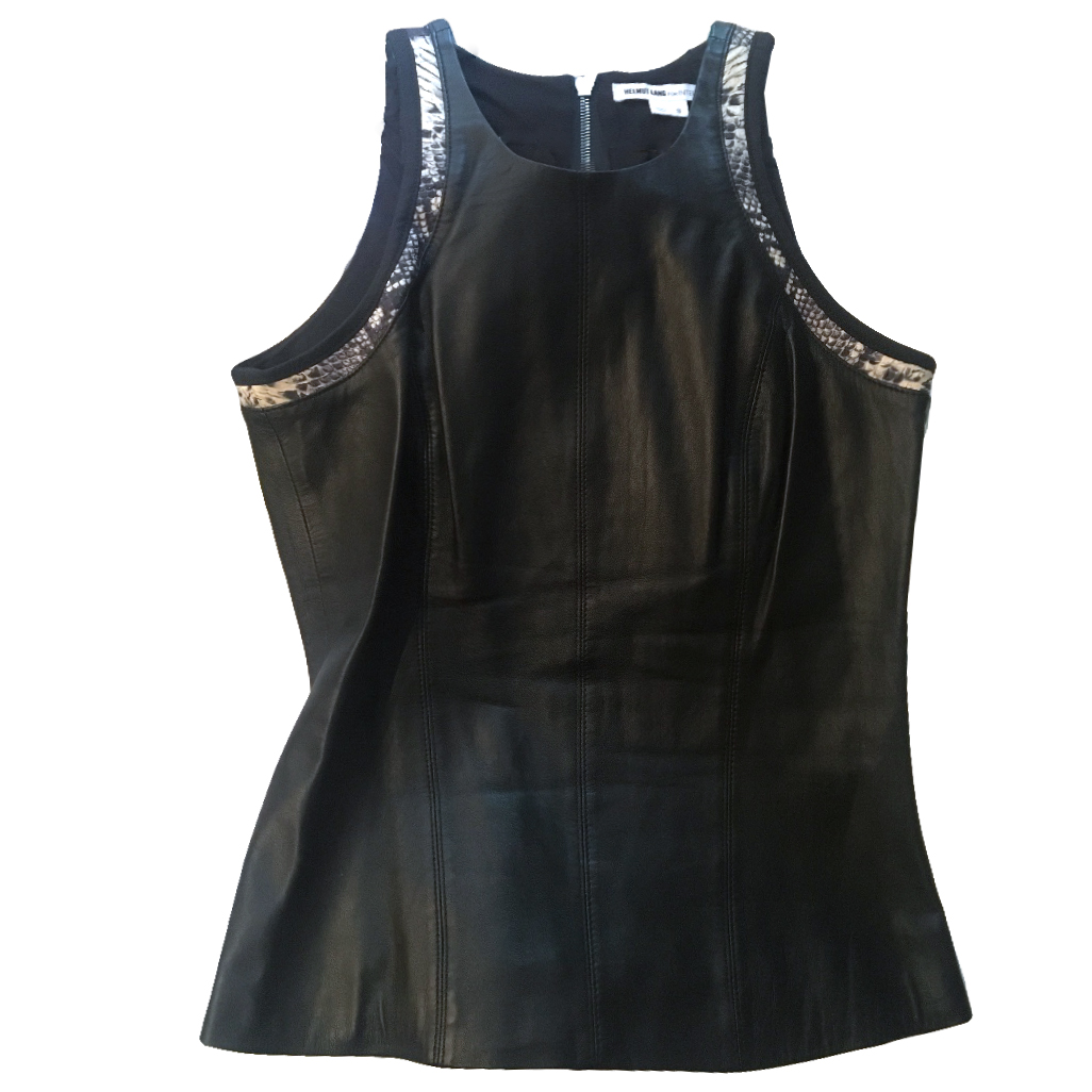 Helmut Lang Sleeveless leather top