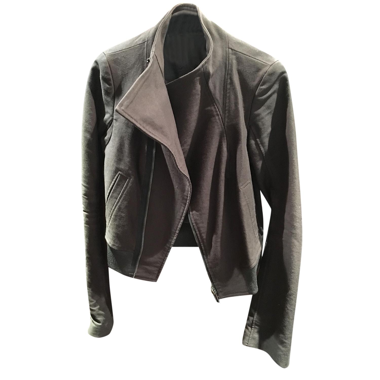Rick Owens Cropped grey jacket