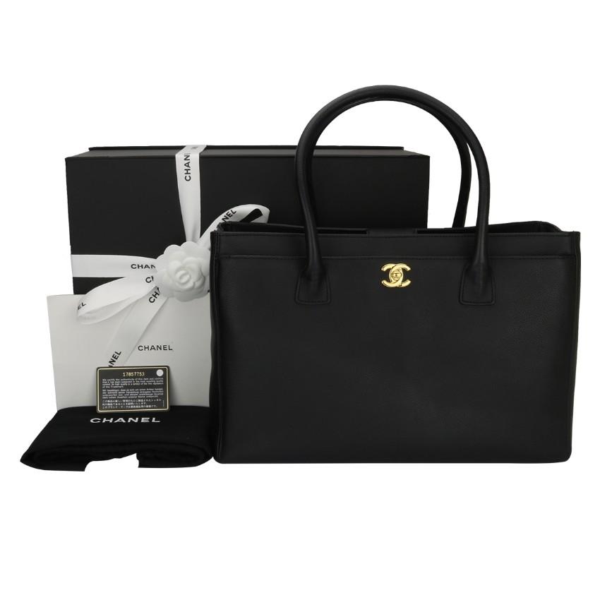 50a48d61ca686e Chanel Black Calfskin Executive Cerf Tote Bag | HEWI London