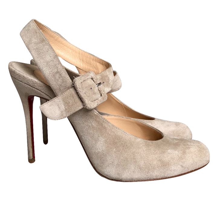 Christian Louboutin d'Orsay Suede Pumps