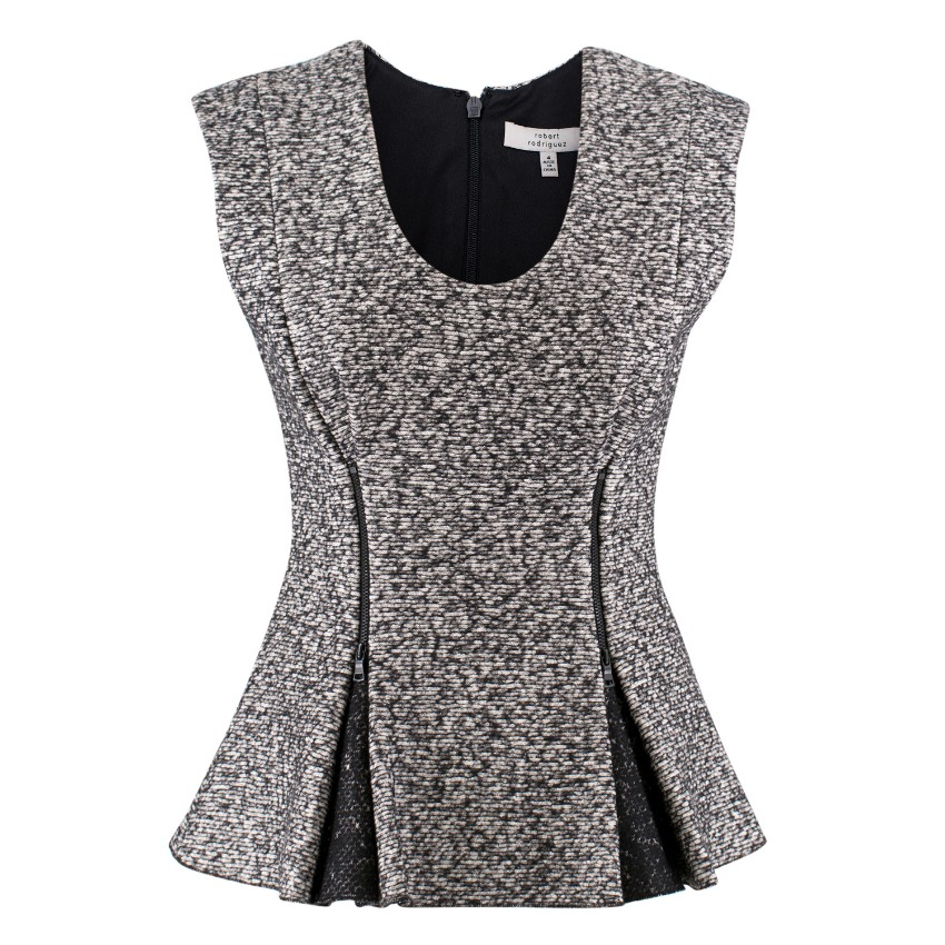Robert Rodriguez tweed Peplum top