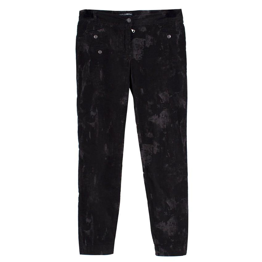 Dolce & Gabanna Velvet Look Jeans