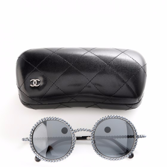 b72bb44fa2f Black Round Sunglasses A71253L3101UNI Source · Chanel Round Runway Blue Pearl  Sunglasses HEWI London