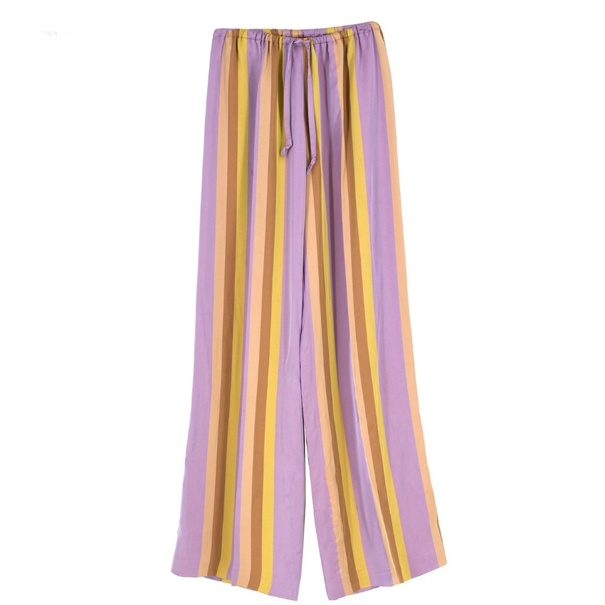 Dries Van Noten Striped Wide Leg Trousers