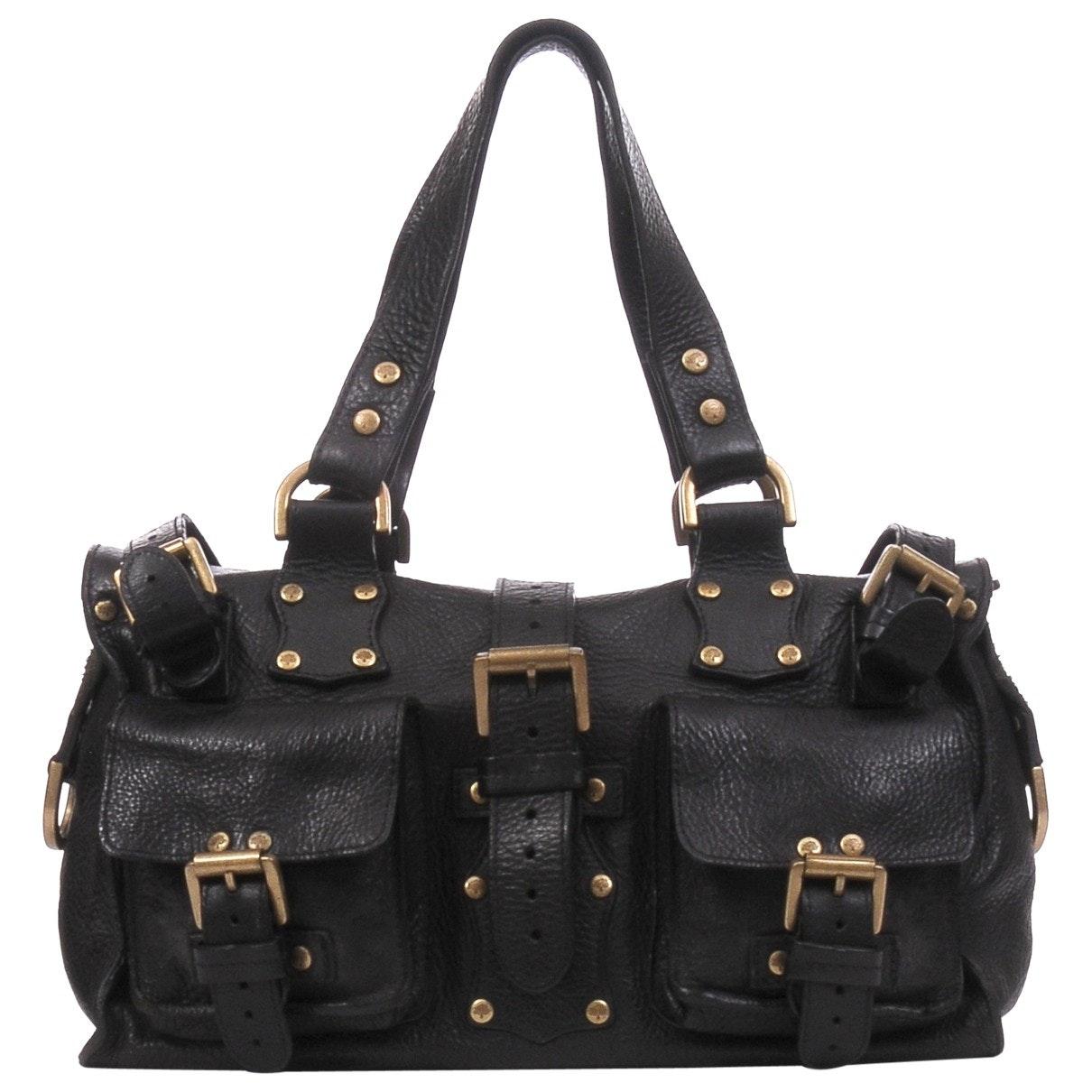 1351af9c65 Mulberry Vintage Roxanne Black Leather Bag