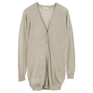 Prada Silk V-Neck Cardigan