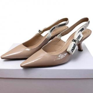 Dior J'Adior Slingback Nude Sandals