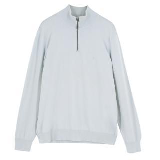 Malo Pale Blue Cashmere Sweater