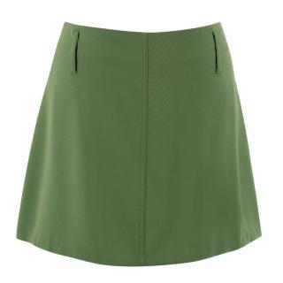 Celine Green Mini Skirt