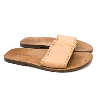Prada Men's Leather Sliders