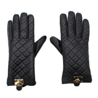 Michael Michael Kors Leather Quilted Gloves