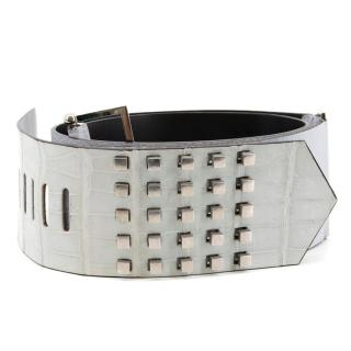 Gianfranco Ferre Leather Studded Belt