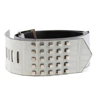 Gianfranco Ferre Leather Studded Belt