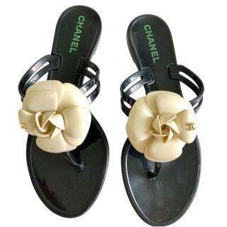 Chanel Jelly Camelia Flower Sandals