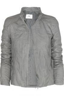 Day Birger et Mikkelsen grey nappa leather jacket
