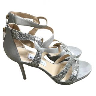 Jimmy Choo Silver Strappy Sandals