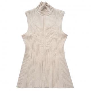 Versace wool funnel neck top