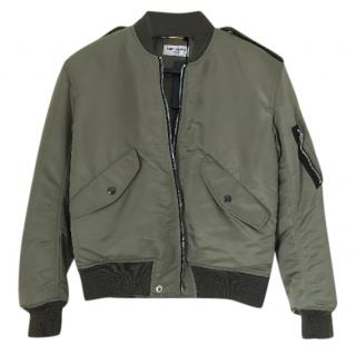 Saint Laurent Khaki Bomber Jacket