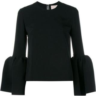 Roksanda Truffaut bell sleeve black top