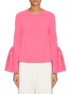 Roksanda pink Truffaut bell sleeve top