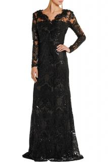 Marchesa Notte black sequinned red carpet dress