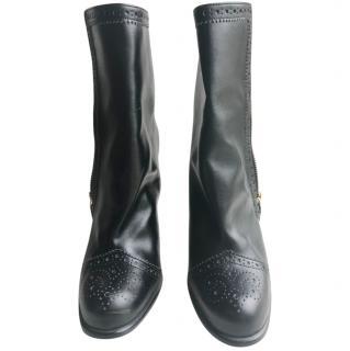 Stella McCartney Black Brogue Heeled Boots