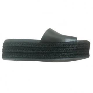 Miu Miu Black Espadrille Sandales