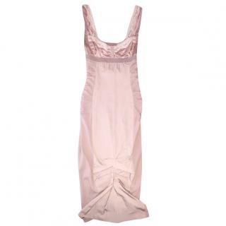 Nina Ricci blush silk dress