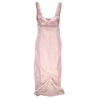 Nina Ricci blush silk dress