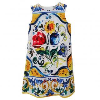 Dolce and Gabbana Girls Majolica Dress