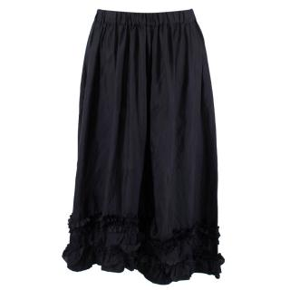 Comme Des Garcons Navy Ruffled Shorts