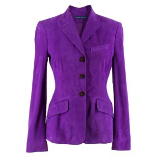 Ralph Lauren Purple SuedeJacket