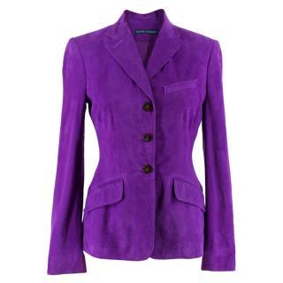 Ralph Lauren Purple Suede Jacket