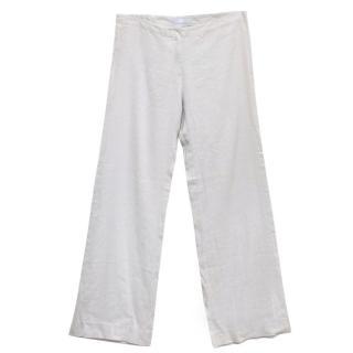 Farhi Grey Linen Trousers