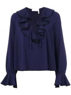 See by Chloe ruffle-trimmed top