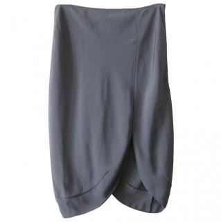 Yves Saint Laurent Silk Tulip Hem Skirt