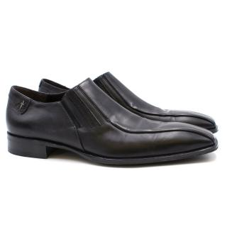 Cesare Paciotti Black Leather Shoes