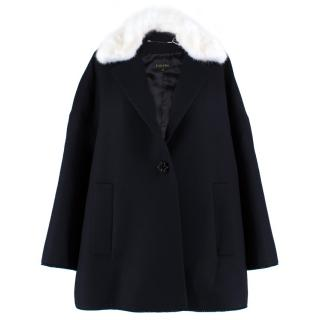 Escada Black & White Mink Fur Coat
