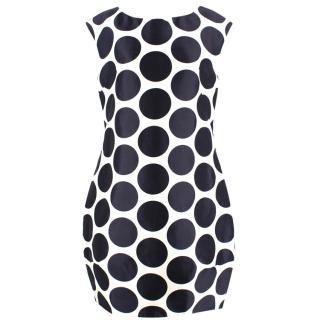Dolce & Gabbana White and Navy Polka Dot Dress