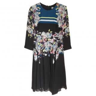 Erdem Eames Silk-Crepe Dress