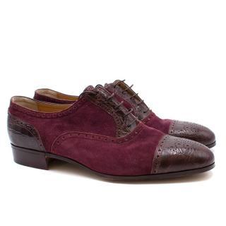 Avi Rossini Purple Leather & Suede Shoes