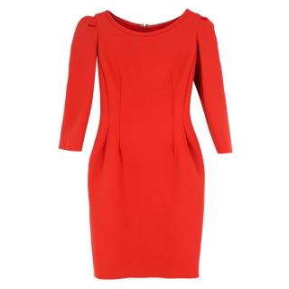 Lanvin Red Fitted Dress